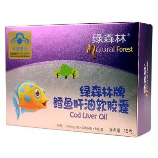 绿森林鳕鱼肝油软胶囊