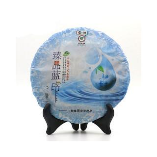 中茶牌 洱茶生茶 臻品蓝印