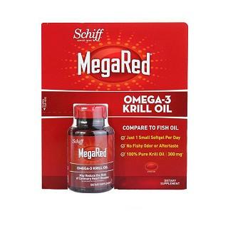 schiff megared 磷虾油软胶囊 含虾青素 三倍鱼油