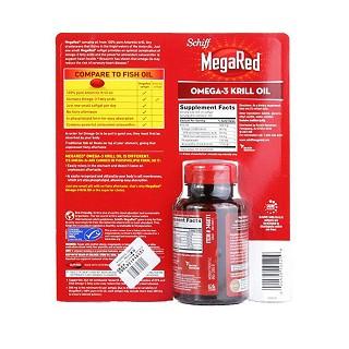 schiff megared 磷虾油软胶囊 含虾青素 三倍鱼油价格