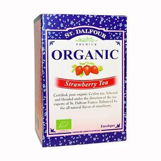 st. dalfour organic strawberry tea