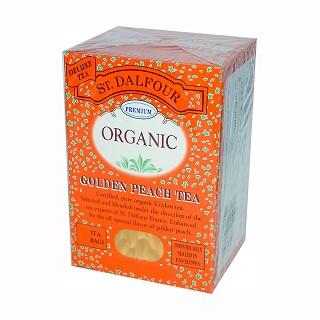 st. dalfour organic golden peach tea
