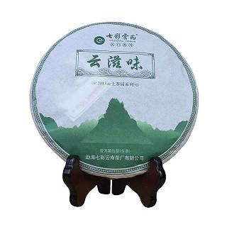 七彩云南 普洱茶饼 云滋味生茶
