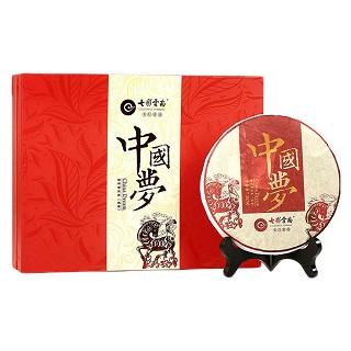 七彩云南 普洱茶 熟茶饼