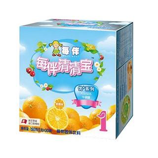 每伴清清宝优+1段香橙味盒装