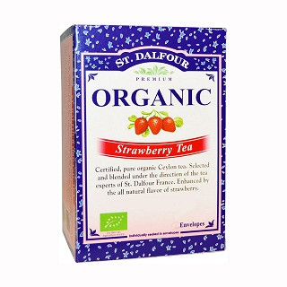 st. dalfour organic strawberry tea
